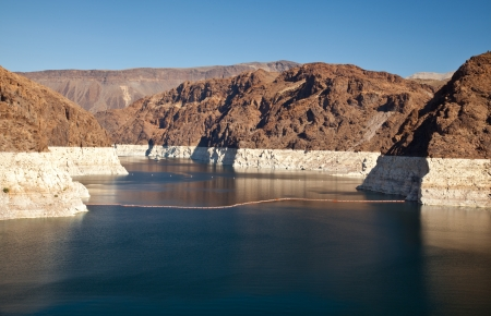 meade: Colorado River Lake Meade close to Hoover Dam scenic landscape vista Stock Photo