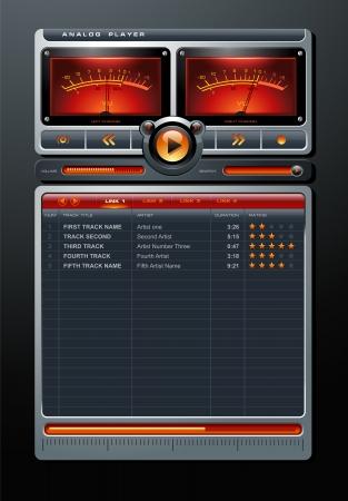 アナログ ステレオ MP3 音楽をメディア プレーヤーの詳細