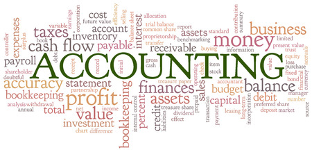 Accounting Word Cloud Word Bubble tags vector Stock Vector - 26056935