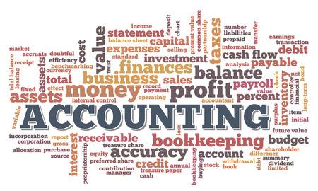 Accounting Word Cloud Bel van Word-tags vector