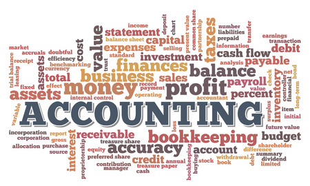 Accounting Word Cloud Word Bubble tags vector Banco de Imagens - 26056937