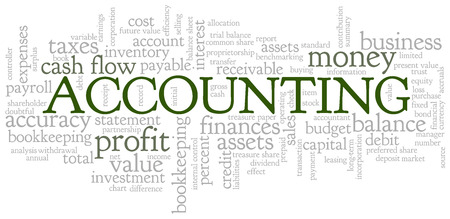 receivable: Accounting Word Cloud Word Bubble tags vector