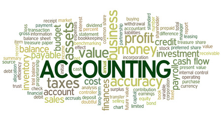 Accounting Word Cloud Word Bubble tags vector Stock Vector - 26866936