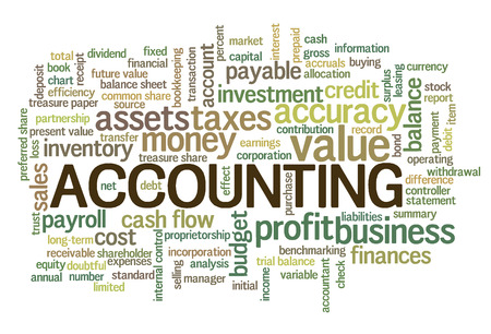Accounting Word Cloud Bel van Word-tags vector