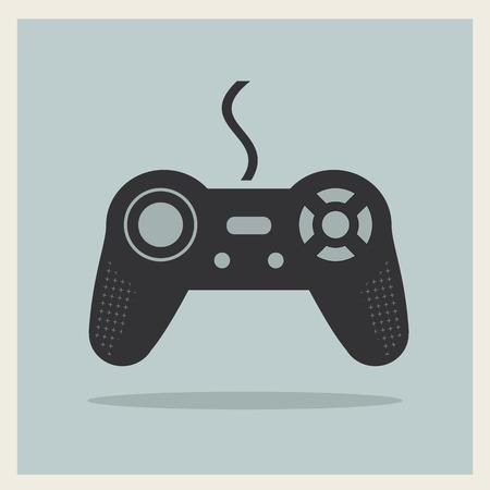old pc: Computer Video Game Controller Joystick on Retro Background  Illustration