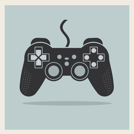 game pad: Computer Video Game Controller Joystick on Retro Background  Illustration