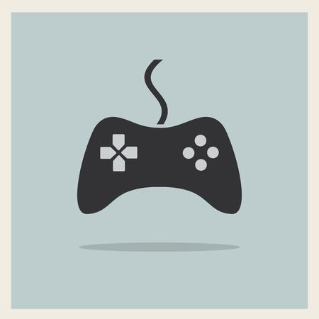 controller: Computer Video Game Controller Joystick on Retro Background  Illustration