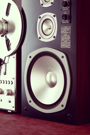 audio: Big Audio Speaker Vintage Stock Photo
