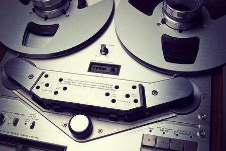 flauta dulce: Estéreo analógico carrete abierto Magnetofono grabadora Vintage Primer