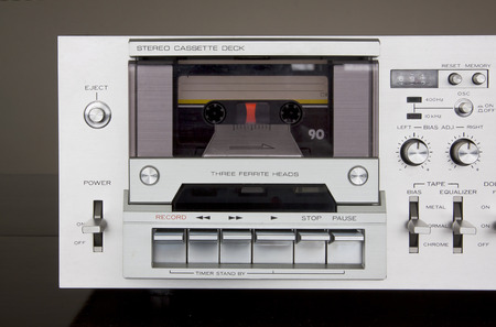 Vintage Stereo Cassette Tape Deck Recorder Front Closeup
