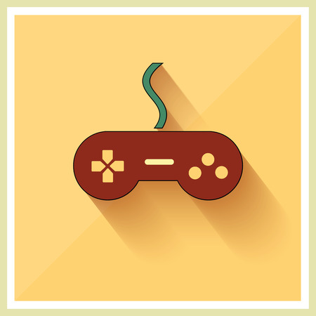 input device: Computer Video Game Controller Joystick on Retro Background Vector