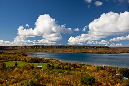 huron: Cape Croker Lake Huron Autumn Fall Forest Trees landscape