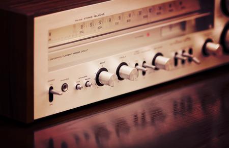 est�reo: Receptor de radio est�reo de la vendimia