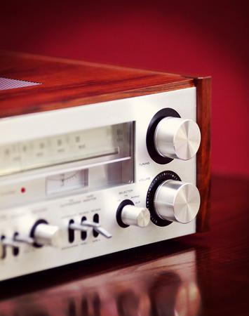 estereo: Receptor de radio est�reo de la vendimia