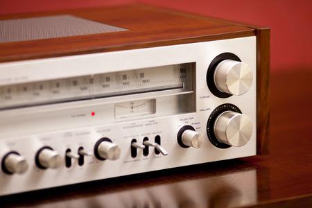 receiver: Vintage Stereo Radio Receiver Stock Photo