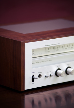 Vintage Stereo Radio Receiver Stock Photo