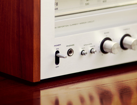 Vintage Stereo Radio Receiver Banco de Imagens