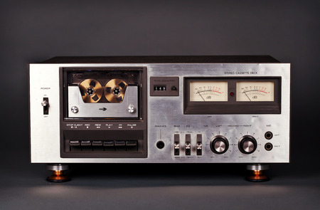 grabadora: Casete de m�sica de la vendimia grabador reproductor platina