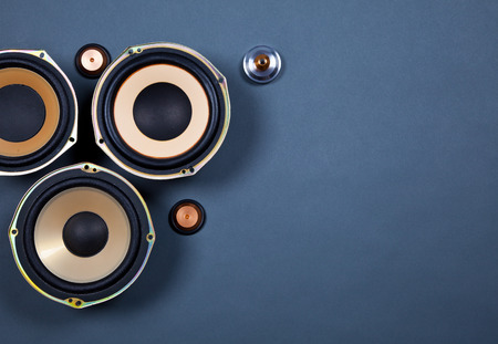 Audio Sound Speakers Collection Set Stock Photo