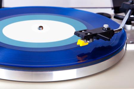 Analog Stereo Turntable Vinyl Blue Record Player Headshell Cartridge