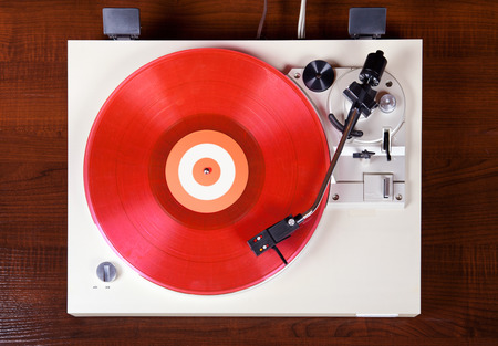 Analog Stereo Turntable Vinyl Record Player Top View