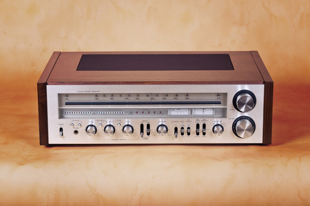 receiver: Vintage Stereo Radio Receiver Front Panel