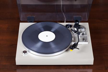 equipo de sonido: Analog Stereo disco de vinilo jugador Foto de archivo