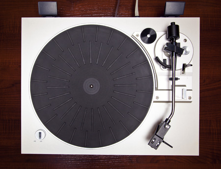 record: Analog Stereo Turntable Vinyl Record Player