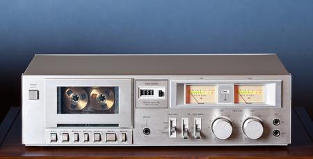 grabadora: Casete de música de la vendimia grabador reproductor platina