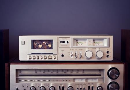 equipo de sonido: Casete de música de la vendimia grabador reproductor platina