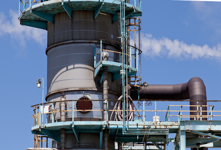 gas burner: Chemical Refinery Plant Smokestack Tower Pipeline, heavy industry