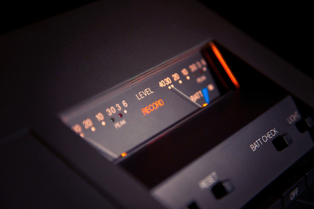 Stereo Cassette Deck Player Record Indicator with VU meters