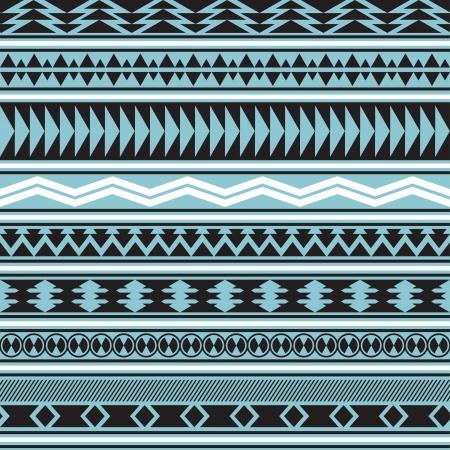 部族のシームレスなパターンの幾何学的な背景ファイルに含まれているシームレスなパターンのスウォッチをストライプ  イラスト・ベクター素材