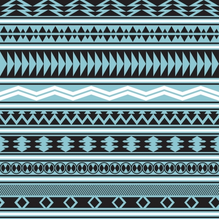Tribal striped seamless pattern  Geometric background  Swatches of seamless pattern included in the file  Vector