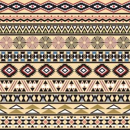 Tribal gestreiften nahtlose Muster Geometrische mehrfarbigen Hintergrund Vintage weichen Farben der Farbfelder nahtlose Muster in der Datei enthalten Standard-Bild - 20025434