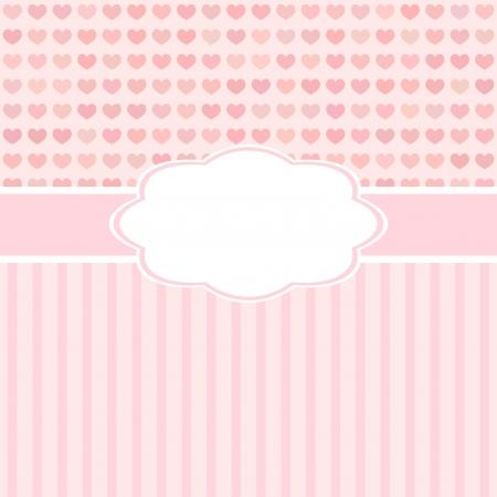 pink cute-Karte mit Herz zum Valentinstag oder weddind Design