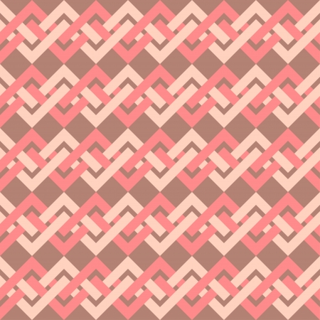 Seamless pattern of interlacing lines in retro style  Can be used to fabric design, wallpaper, decorative paper, scrapbook albums, web design, etc  Swatches of seamless pattern included in the file  Vector