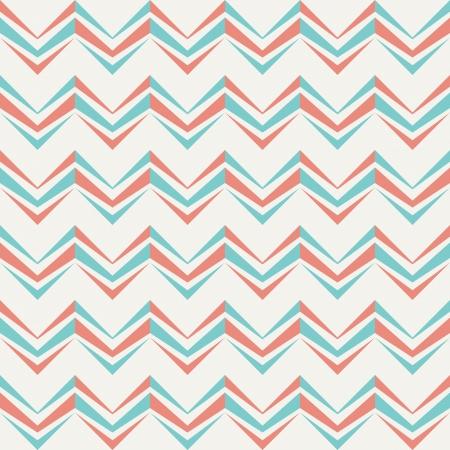 Seamless Chevron Muster im Retro-Stil zu Stoff-Design, Tapeten verwendet werden, Dekorpapier, Scrapbook-Alben, Web-Design, etc Farbfelder der nahtlose Muster in der Datei enthalten