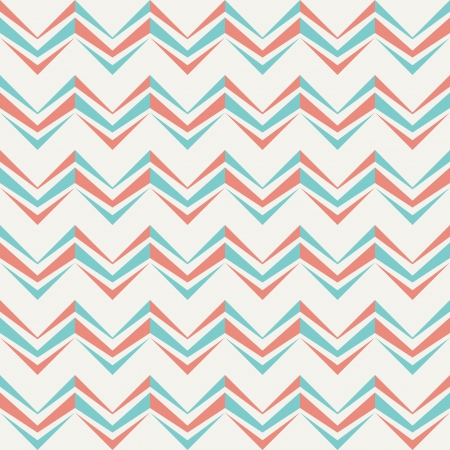 Seamless chevron pattern in retro style  Can be used to fabric design, wallpaper, decorative paper, scrapbook albums, web design, etc  Swatches of seamless pattern included in the file  Vector