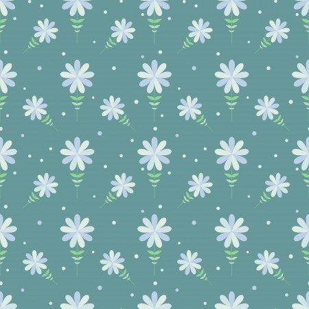 Seamless floral pattern with geometric stylized flowers  Can be used to fabric design, wallpaper, decorative paper, web design, etc  Swatches of seamless patterns included in the file