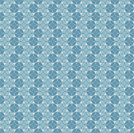 Seamless pattern with circles and abstract flowers  Can be used to fabric design, wallpaper, decorative paper, web design, etc  Swatches of seamless patterns included in the file  Vector