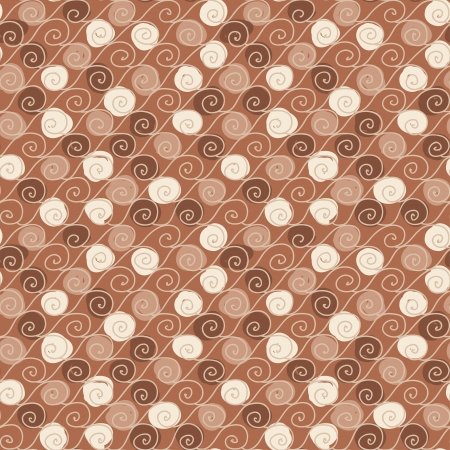 Seamless hand drawn pattern with waves in retro style  Can be used to fabric design, wallpaper, decorative paper, scrapbook albums, web design, etc  Swatches of seamless pattern included in the file   Vector
