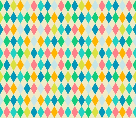 Mosaic seamless patterns in retro style  Soft colors  Can be used to fabric design, wallpaper, decorative paper, web design, etc  Swatches of seamless patterns included in the file  Vector