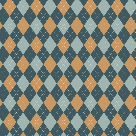 Seamless argyle pattern  Diamond shapes background  Can be used to cloth design, decorative paper, web design, etc  Swatches of seamless pattern included in the file for ease of use  Ilustracja