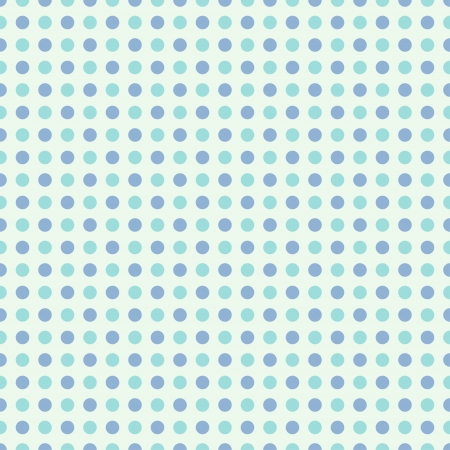 Seamless polka dot pattern in retro style, subtle colors  Can be used to fabric design, wallpaper, decorative paper, scrapbook albums, web design, etc  Swatches of seamless pattern included in the file for ease of use  Vector