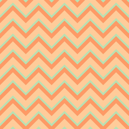 Seamless chevron pattern in retro style, soft colors  Geometric background  Can be used to fabric design, wallpaper, decorative paper, scrapbook albums, web design, etc  Swatches of seamless pattern included in the file for ease of use Stock Vector - 20025244