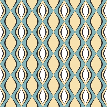 sewing pattern: Seamless geometric pattern with diamond shapes in retro style, soft colors  Can be used to fabric design, wallpaper, decorative paper, scrapbook albums, web design, etc  Swatches of seamless pattern included in the file for ease of use