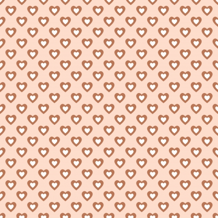 Seamless pattern with hearts in retro style, soft colors  Can be used to fabric design, wallpaper, decorative paper, scrapbook albums, web design, etc  Swatches of seamless pattern included in the file for ease of use Stock Vector - 20025257