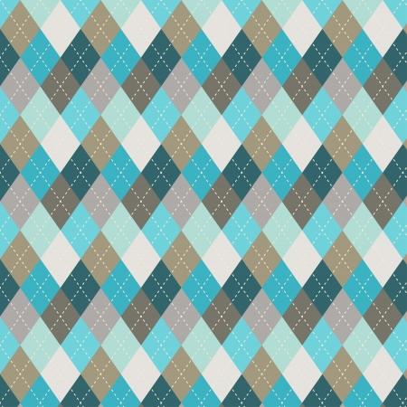 シームレスなアーガイル柄ダイヤモンド図形背景に使える布デザイン、装飾的なペーパー、web デザインなど使いやすさのファイルに含まれているシ