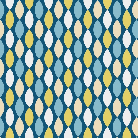 Seamless geometric pattern with diamond shapes in retro style, soft colors  Can be used to fabric design, wallpaper, decorative paper, scrapbook albums, web design, etc  Swatches of seamless pattern included in the file for ease of use
